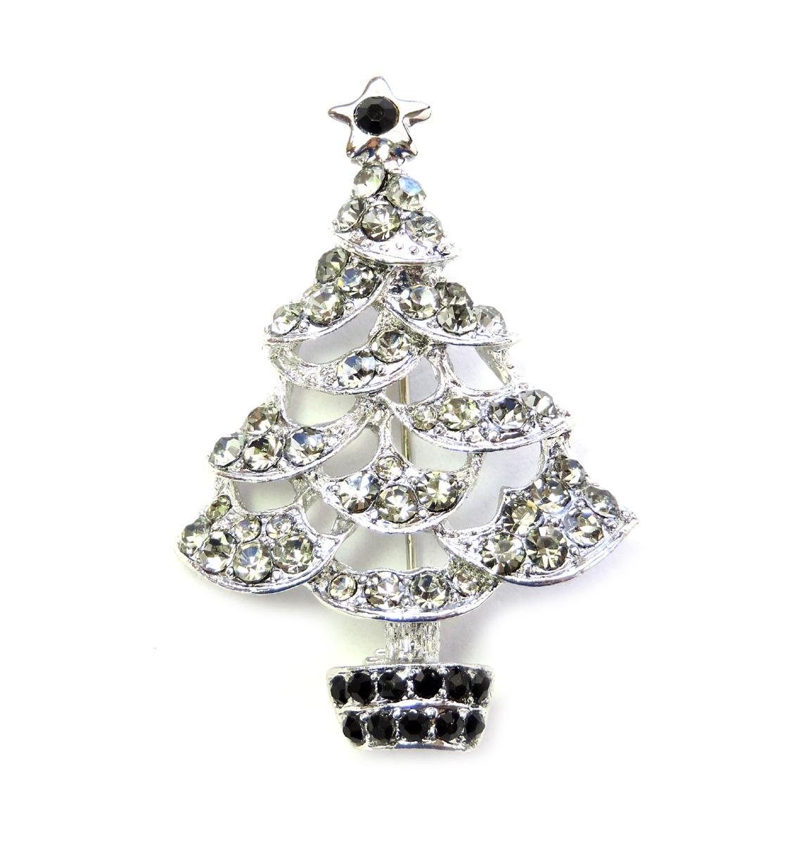 Broszki I Szpilki Mickey Mouse Christmas Tree Pin Brooch Red Black Rhinestone Crystal Bizuteria I Zegarki Mayoshop Org