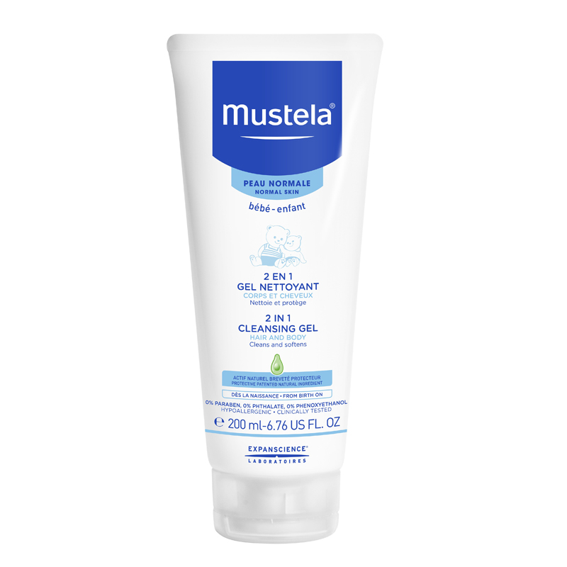 Mustela 2 In 1 Cleansing Gel (6.76 Oz.)