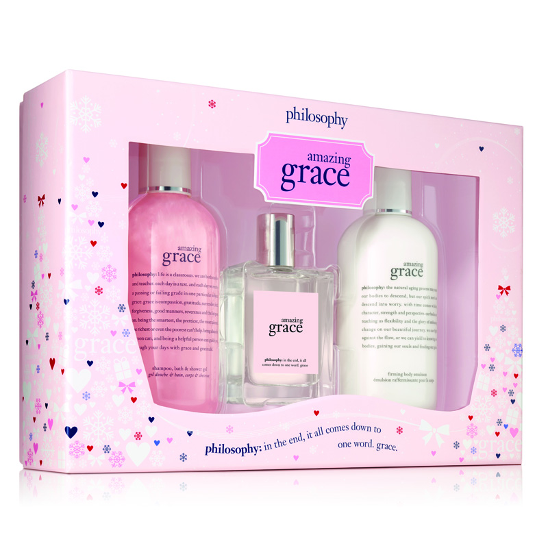 Image of Philosophy Amazing Grace 3Piece Gift Set Holiday 2017