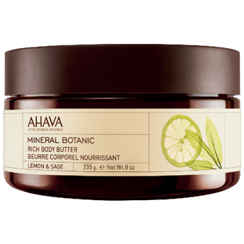 An ultra-nourishing, intense moisturizer provides long lasting softness with Shea Butter and Peach Butter.This ultra-nourishing and softening body butter, infused with the energizing scent of lemon and sage, is rich in shea and peach butters providing skin with long-lasting hydration and protection.Net Weight: 235 g / 8 oz.