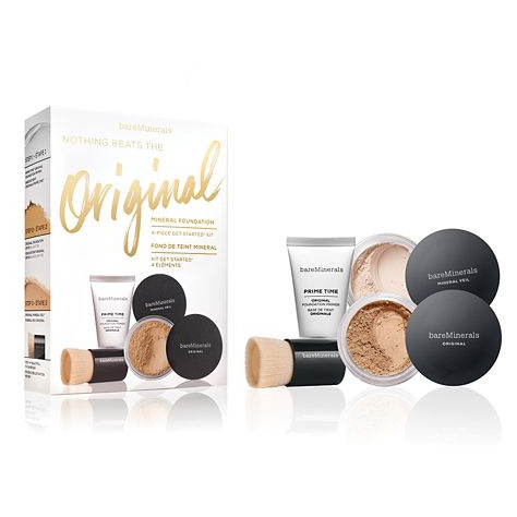 BareMinerals Nothing Beats The Original Mineral Foundation 4Piece Get Started Kit Medium Beige 12
